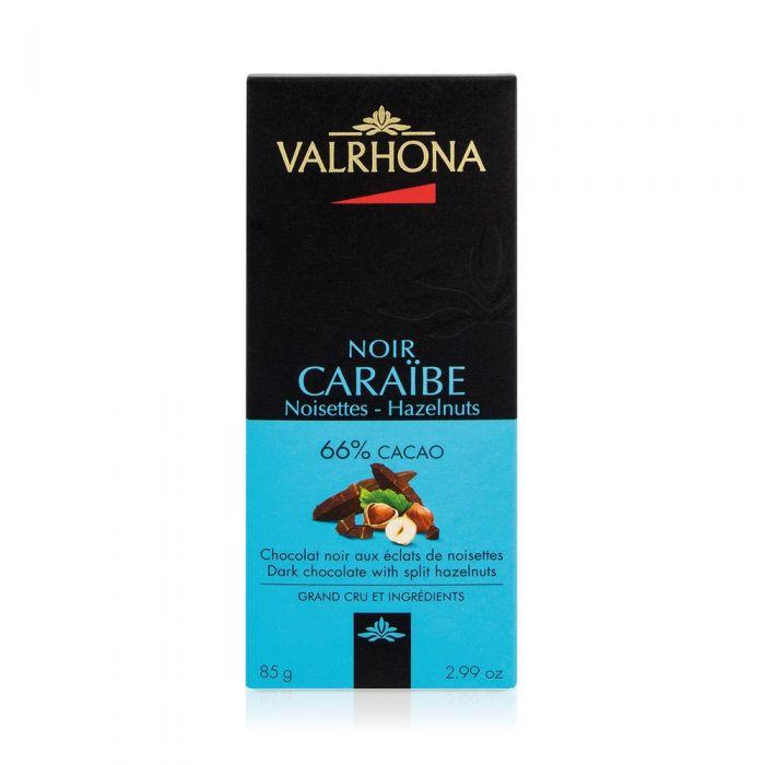 tavoletta caraibe 66% con nocciole di valrhona