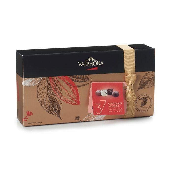 confezione di praline assortite di valrhona