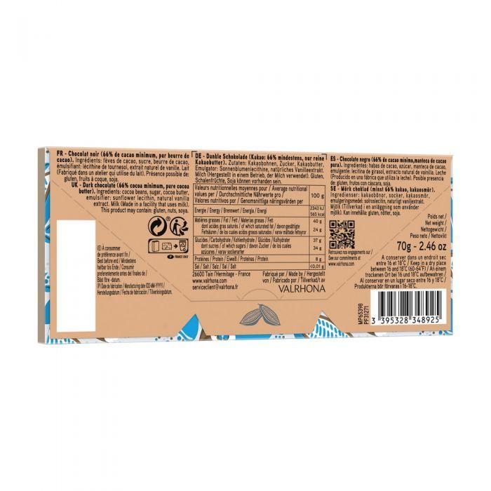 tablette caraibe 66% - 70 g di valrhona