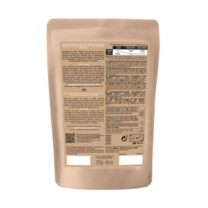 sacchetto 250g jivara 40% di valrhona