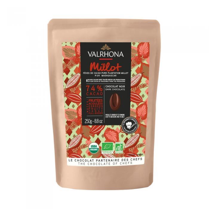 sacchetto 250g millot 74% di valrhona