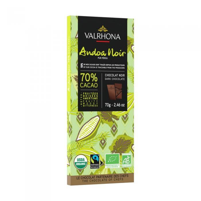 tablette andoa noire 70% - 70 g di valrhona