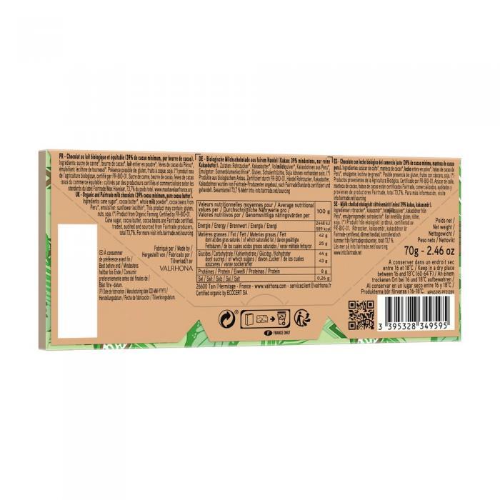 tablette andoa lactee 39% - 70 g di valrhona