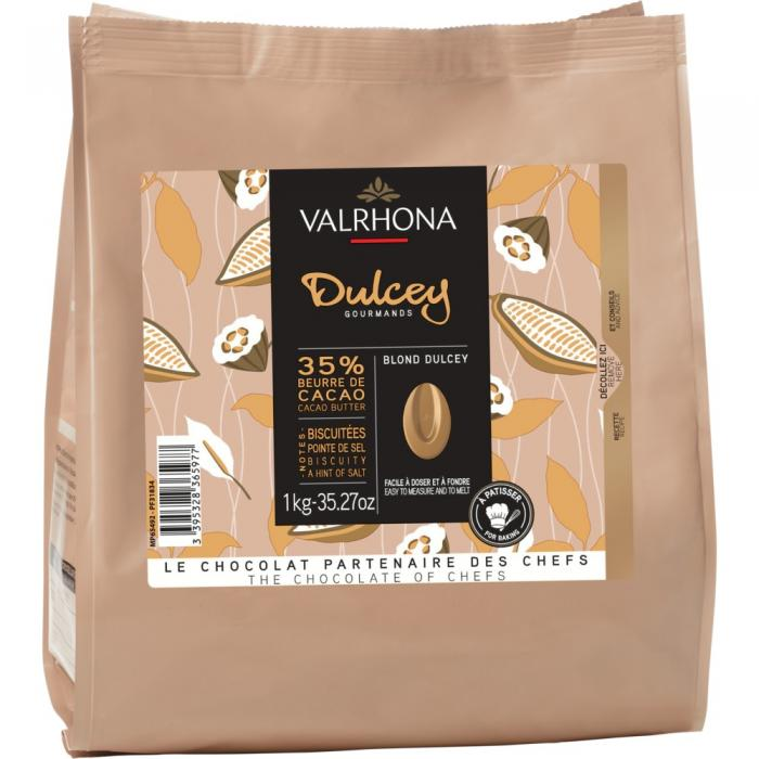 sacchetto 1kg dulcey 35% di valrhona