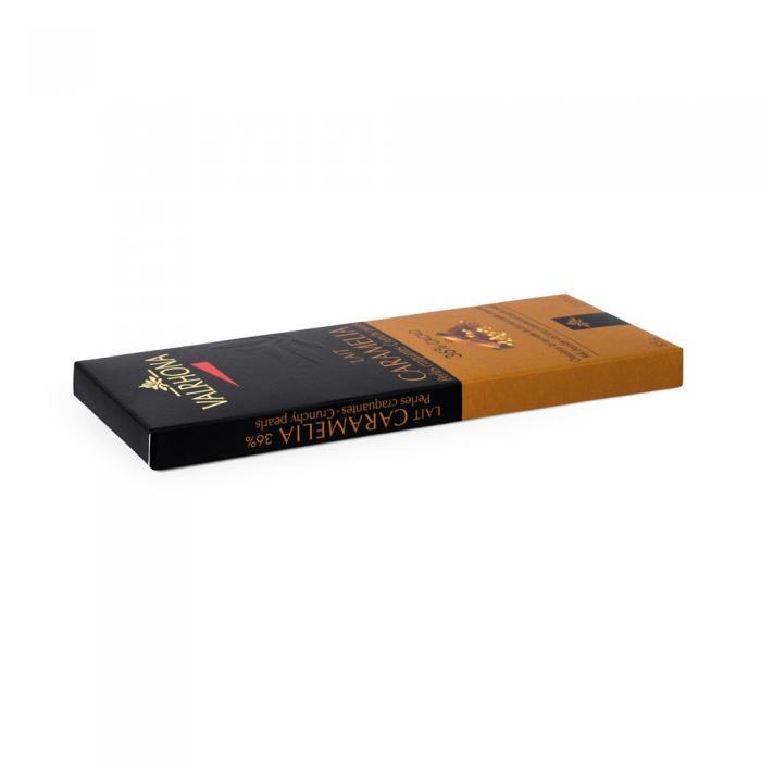 tavoletta caramelia 36% con perle di cereali di valrhona