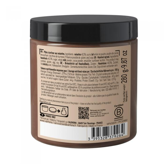 crema alla nocciola 40% di valrhona