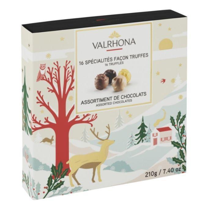 cofanetto 16 tartufi - collezione natale di valrhona