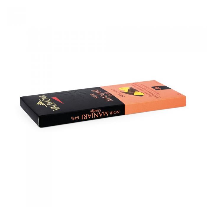 tavoletta manjari 64% e arance candite di valrhona