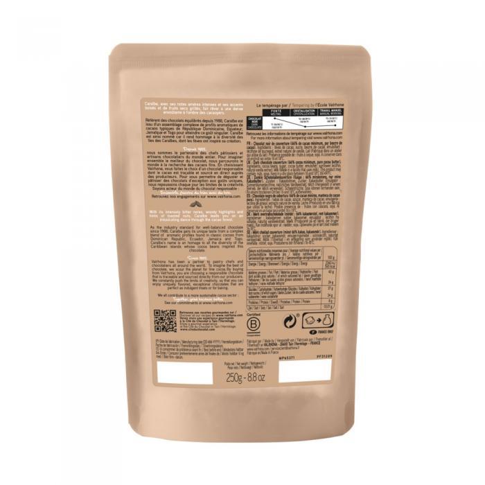 sacchetto 250g caraibe 66% di valrhona